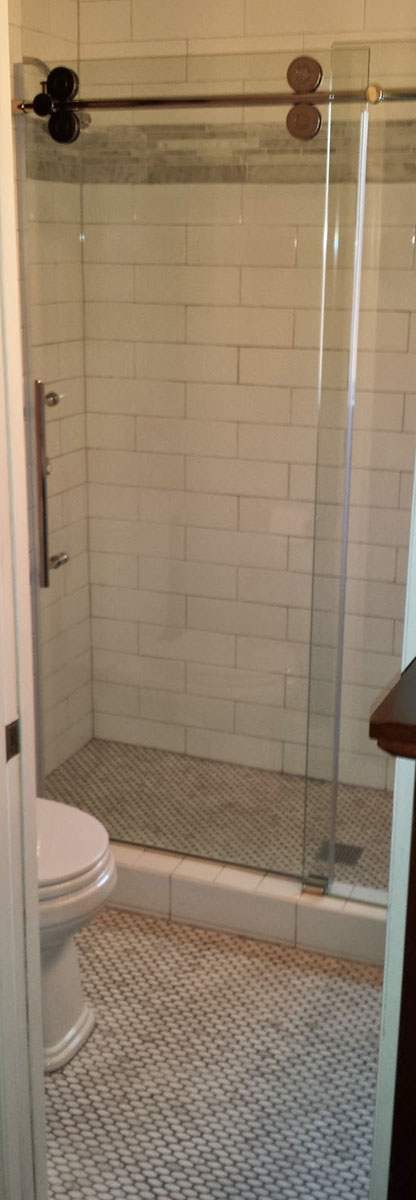 Lake Highlands Small Bathroom Space Remodel with Large Shower ...